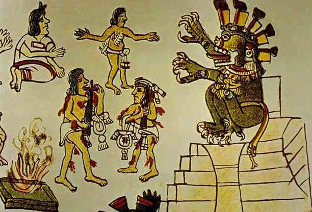 mayan sacrifice pit - 612×416