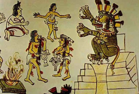 Examples of self blood letting to honor the gods