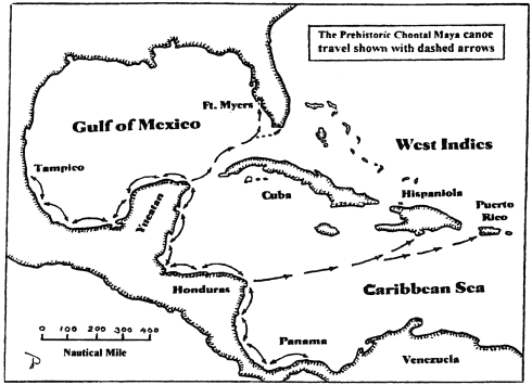 mayan canoe