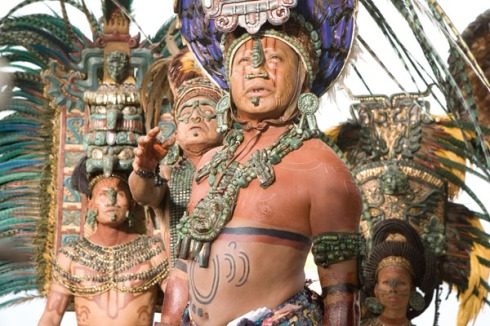 Mayan nobleman ... notice the piercings
