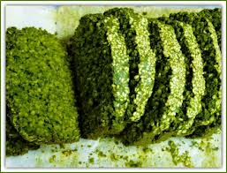 Here's some spirulina bread but it's representative of a sun baked loaf of the algae